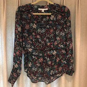 Veronica Beard Floral Black Blouse Size 10